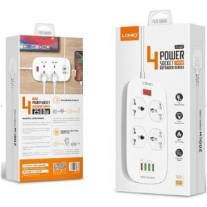LDNIO SC4407 4 Power Socket 4 USB Defender Series 2500W