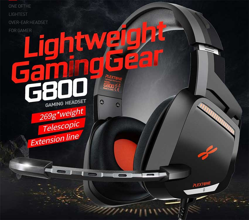 PLEXTONE G800 Wired Over Ear Gaming Headset for Gamer 1