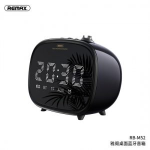 Remax RB M52 Alarm Clock Wireless Bluetooth Speaker