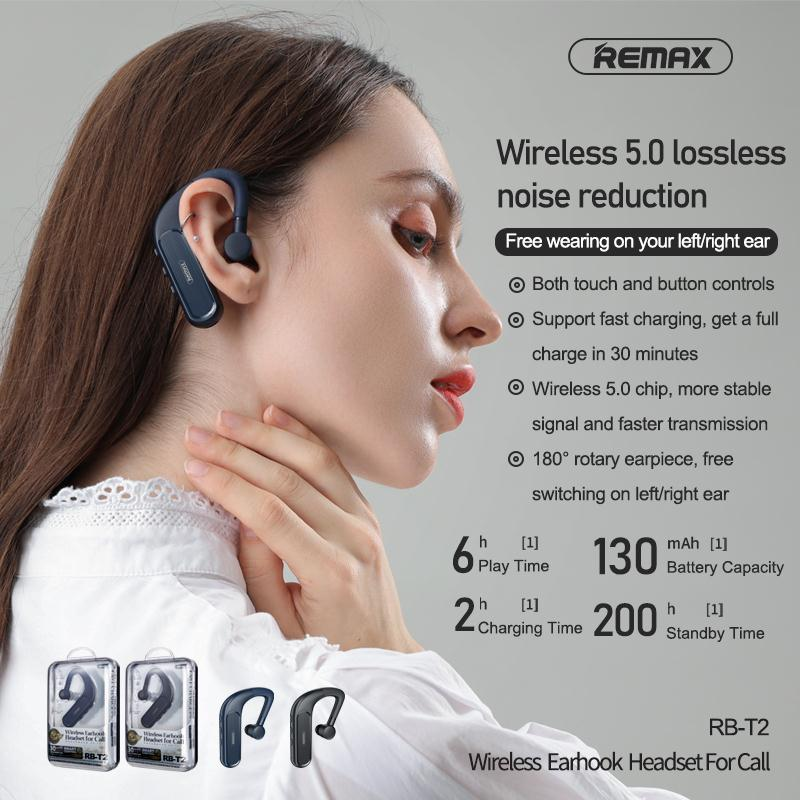 Remax RB T2 Wireless Earhook Headset for Call 1