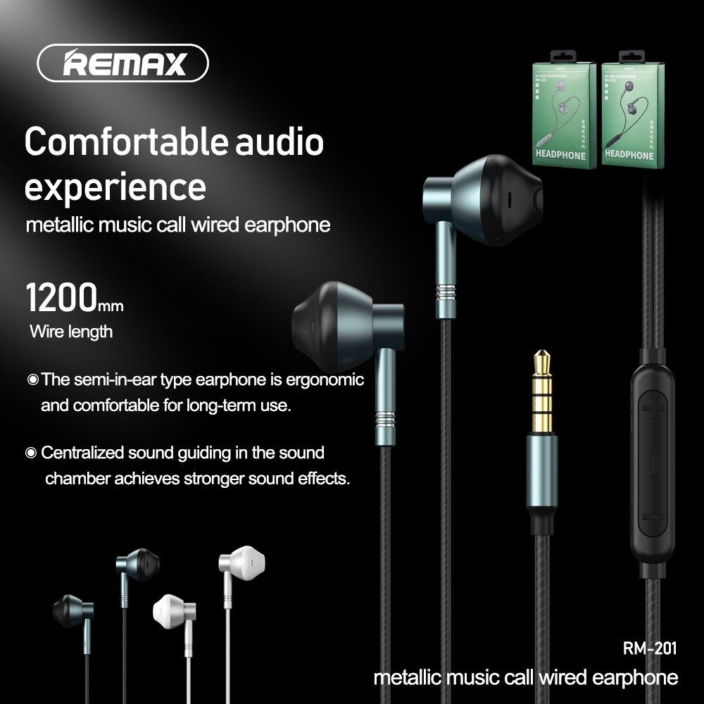 Remax RM 201 Wired In Ear Headphone 1
