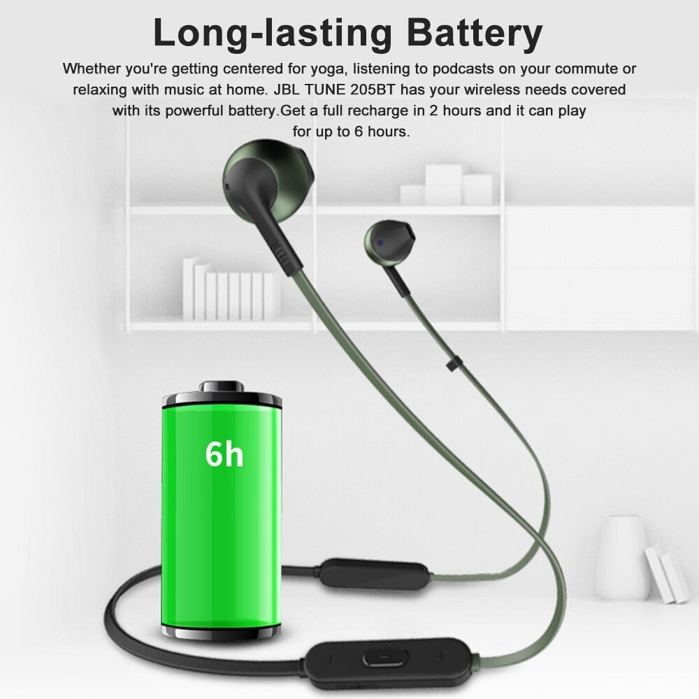 6JBL TUNE 205BT Wireless Bluetooth Earphone 5