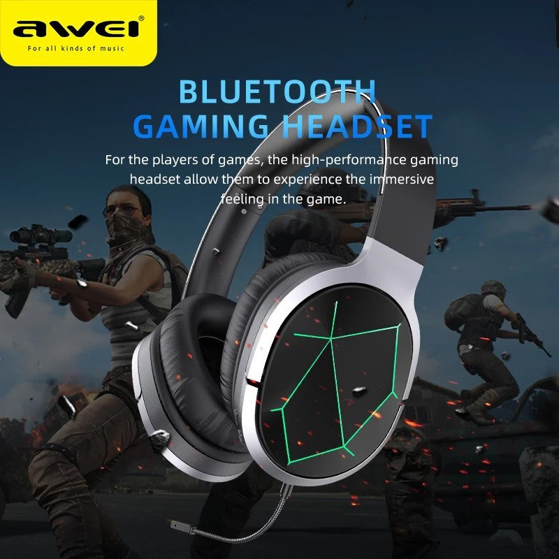 AWEI A799BL Foldable Gaming Wireless Headphone 2