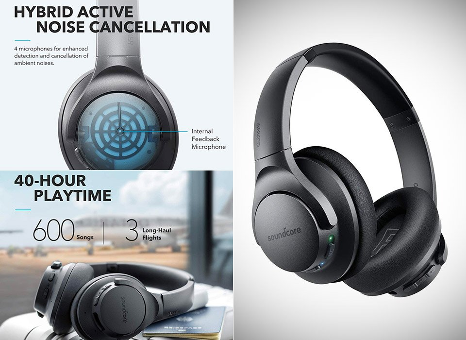 Anker Life Q20 Hybrid Active Noise Canceling Headphones 1