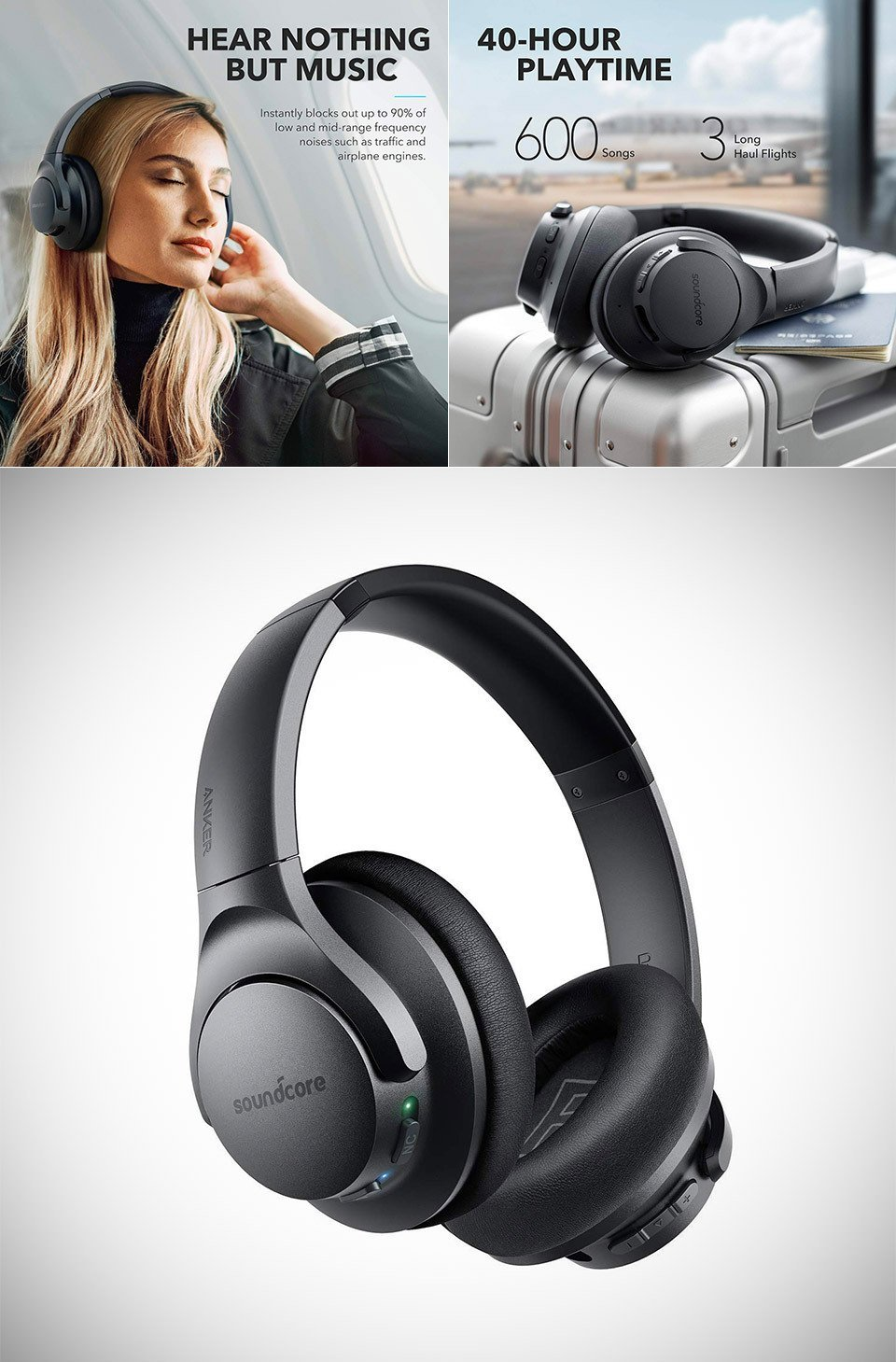 Anker Life Q20 Hybrid Active Noise Canceling Headphones 3