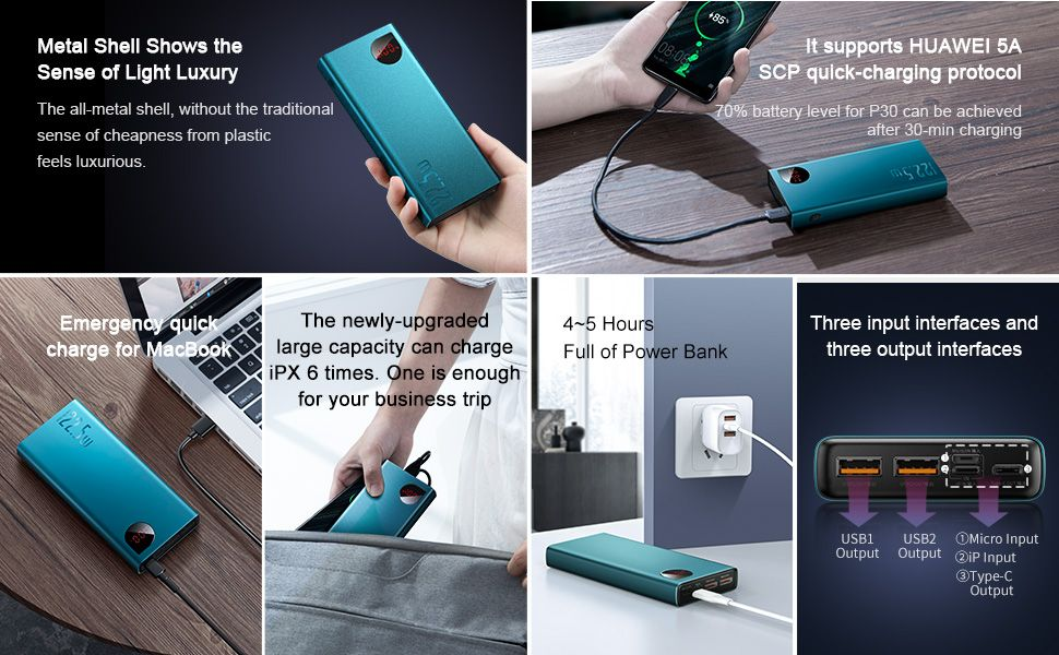Baseus Adaman 20000mAh Power Bank Quick Charge 4.0 Supercharge 4