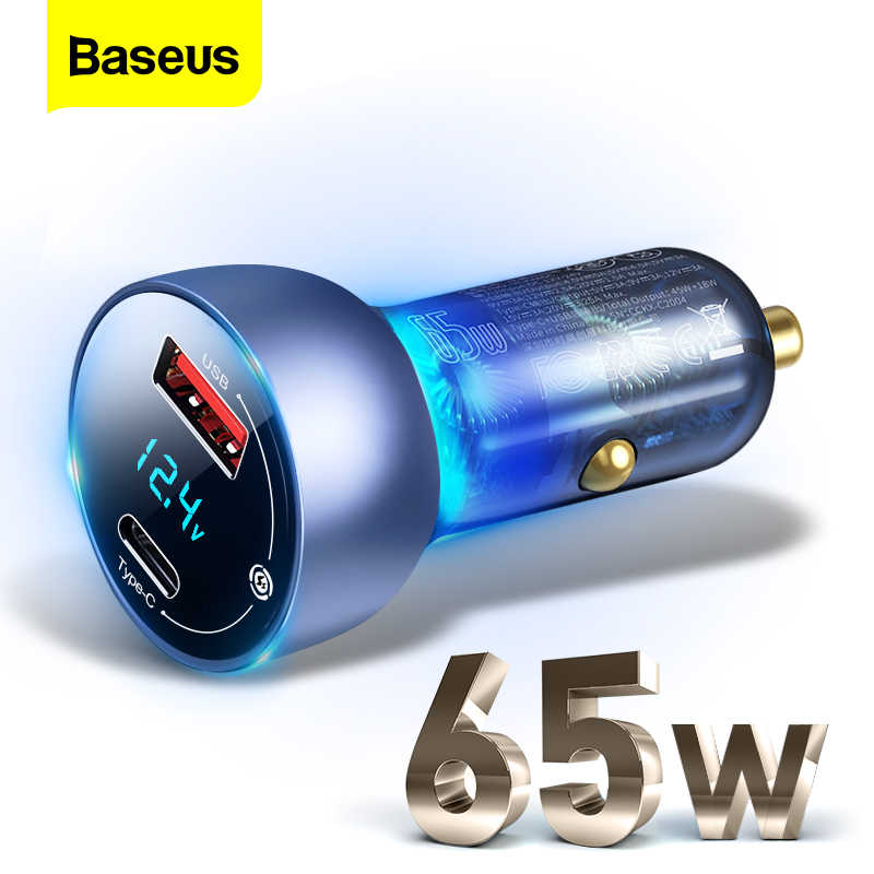 Baseus Car Charger 65W Particular Digital Display QCPPS Dual Quick Charger