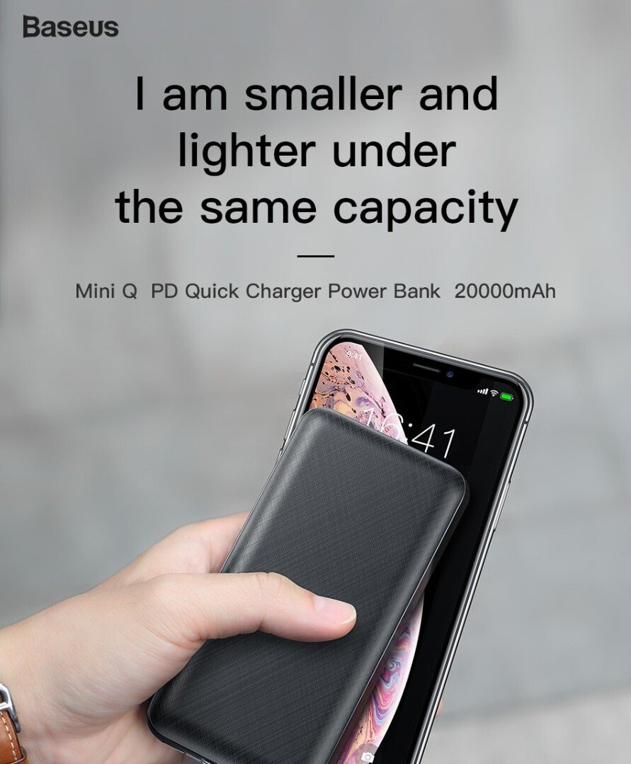 Baseus Mini Q PD Quick Charge Power Bank 20000mAh 3