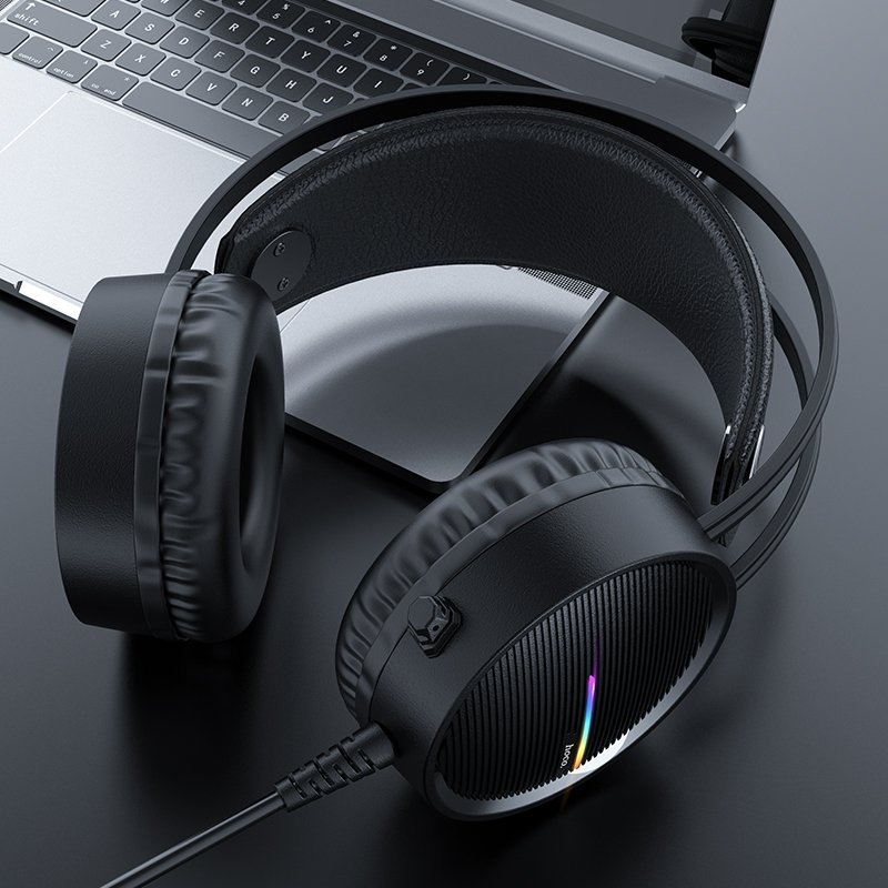 HOCO W100 Portable Wired Gaming Headphone Over ear Headset with Mic 1