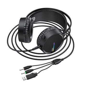 HOCO W100 Portable Wired Gaming Headphone Over ear Headset with Mic