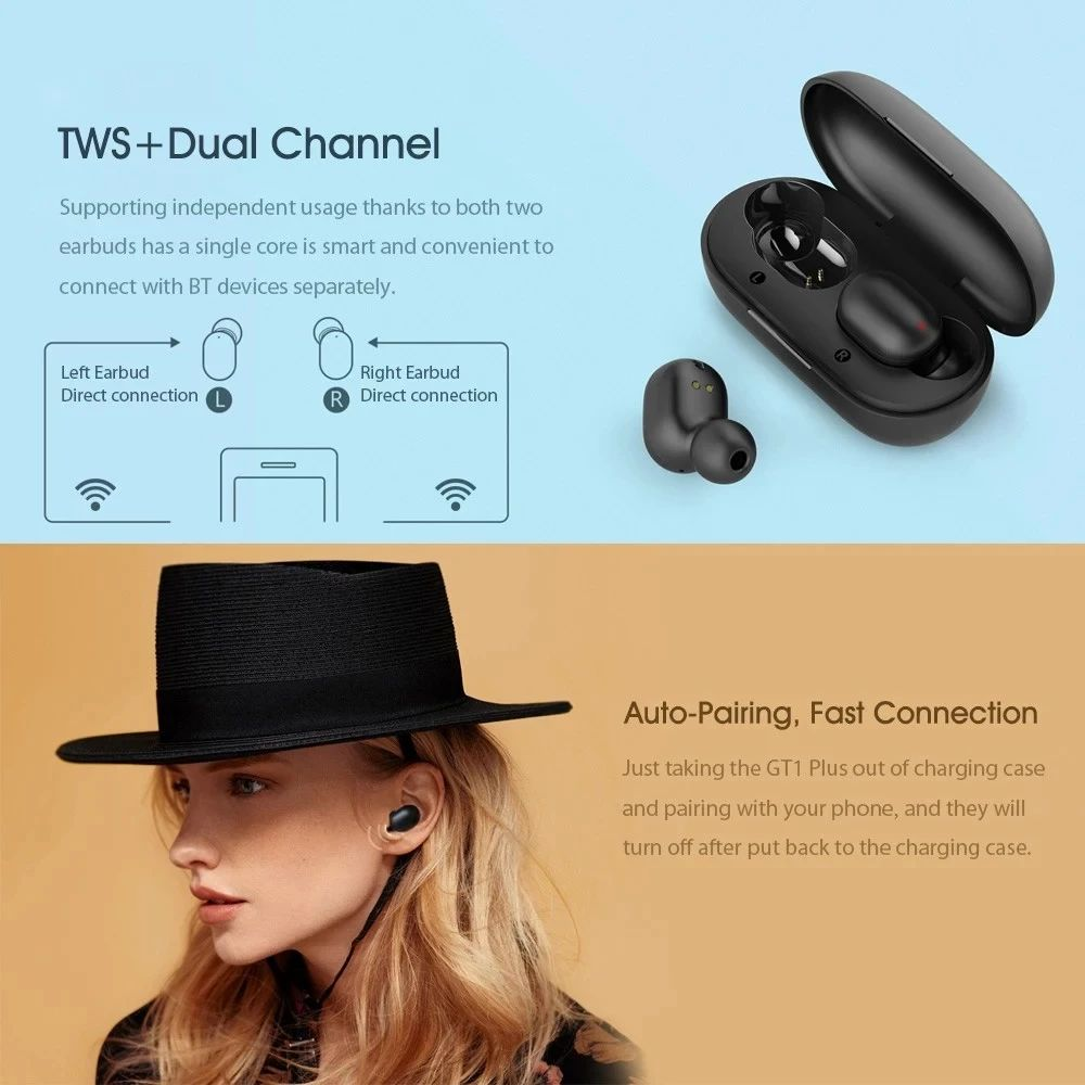 Haylou GT1 Plus TWS Bluetooth 5.0 Earphones 5