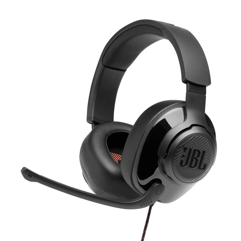 JBL Quantum 300 Hybrid Wired Over Ear Gaming Headset with Flip Up Mic