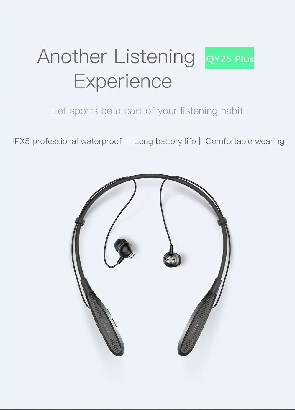 QCY QY25 Plus Magnetic Bluetooth Headphone 6