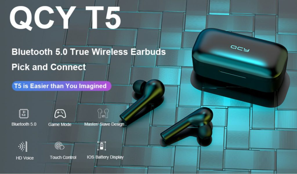 QCY T5 Wireless Bluetooth Earbuds 3