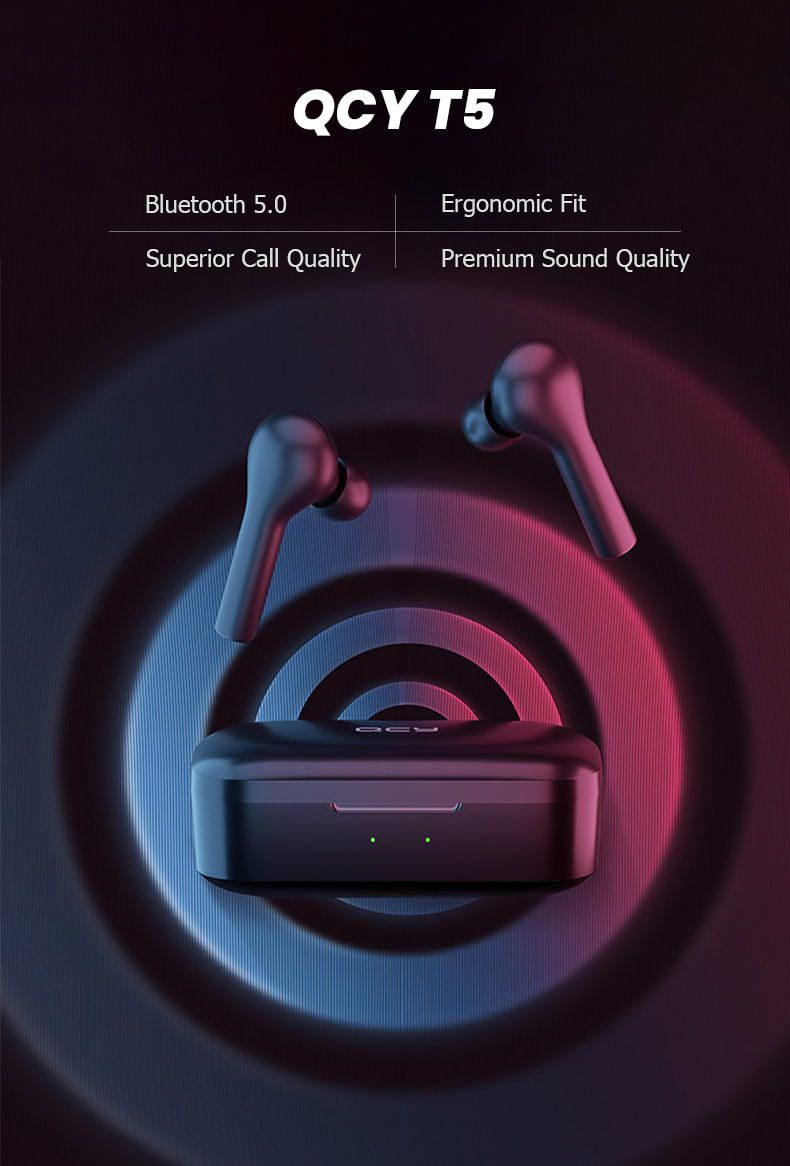 QCY T5 Wireless Bluetooth Earbuds 4
