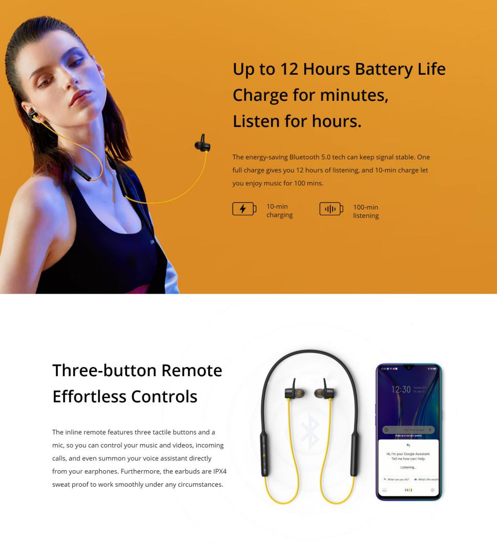 Realme Buds Wireless Bluetooth Earphones with Mic 4