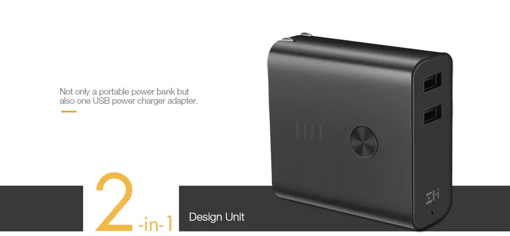 Xiaomi ZMI APB01 Power Bank 6500mAh Dual USB Wall Charger 1